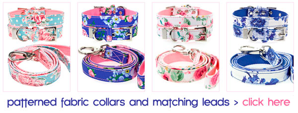 dog collars and matching leads
