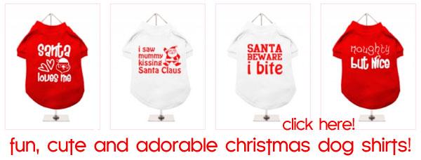 holiday chistmas xmas dog shirts
