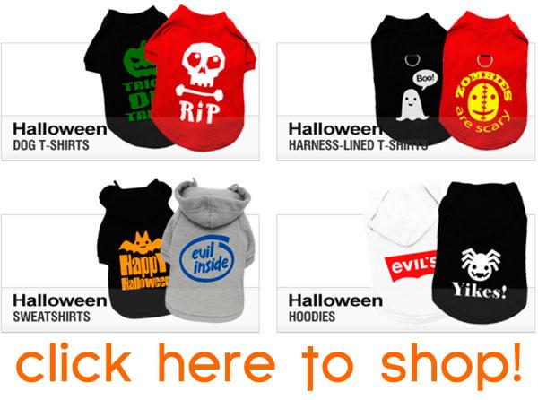 halloween dog shirts