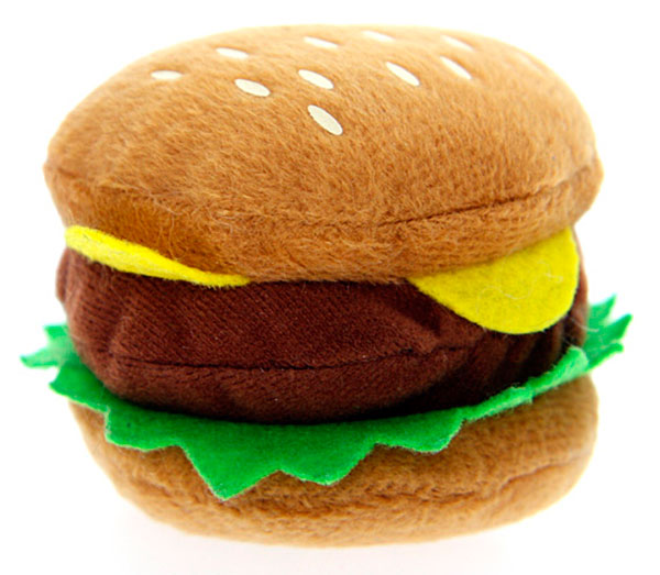 buy squeaky hamburger plush dog toy
