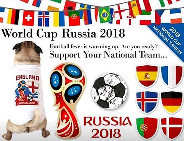 world cup russsia 2018 soccer dog shirts